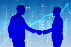 The business cooperation concept with businessmen hand shaking Royalty Free Stock Photo