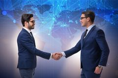 The business cooperation concept with businessmen hand shaking Royalty Free Stock Images