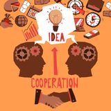 Business Cooperation Illustration Royalty Free Stock Photography