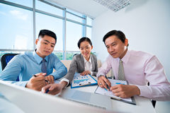 Business cooperation Stock Image