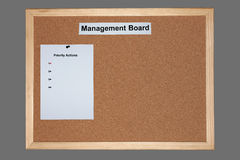 Business cork board. In administration area royalty free stock photos