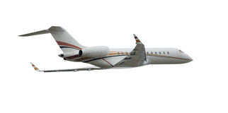 Business corporate aircraft. Passenger airplane in a business transportation image Royalty Free Stock Photography
