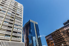 Business and corporate buildings in the economic heart of a larg Stock Images