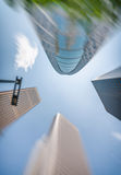 Business and corporate concept. Modern office buildings, skyward Royalty Free Stock Photography