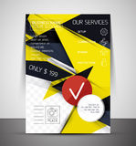 Business corporate flyer template Royalty Free Stock Images