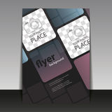 Business or Corporate Flyer Template with Squares. Abstract Colorful Modern Styled Flyer, Leaflet, Pamphlet or Book Cover Creative Design with Place for Your Royalty Free Stock Photos