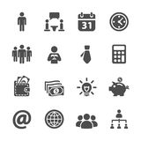 Business and corporate icon set, vector eps10 Stock Images