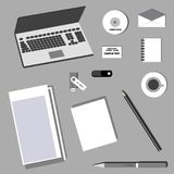 Business Corporate Identity in Flat Design Stock Image