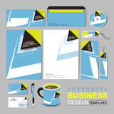Business corporate identity template with black and blue arrow Stock Photos