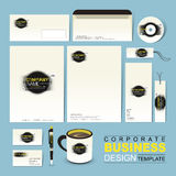 Business corporate identity template with grunge and ink Stock Photography