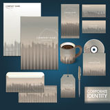 Business corporate identity template with line and vegetation co Royalty Free Stock Image