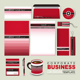 Business corporate identity template with red and black line Stock Photos