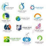 Business Corporate Logo Set Business Logo Design. Corporate Logo Design. Creative Business Vector Icons collection. The best collection of logos for your newly Royalty Free Stock Photos