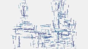 Business corporate marketing related words montage typography. Business and multinational corporate company management word cloud concept typography graphic royalty free illustration