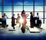 Business Corporate People Digital Communication Meeting Concept.  Stock Image