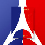 Business corporate templates for flyers, brochure, report. France flag background. Vector. Business corporate Identity Templates for flyers brochure. Annual Royalty Free Stock Photography