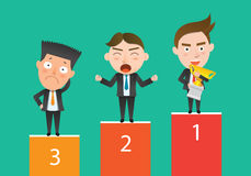Business corporation competition concept flat character.  Royalty Free Stock Photo