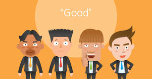 Business corporation good mans concept flat character Royalty Free Stock Image