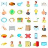 Business corporation icons set, cartoon style. Business corporation icons set. Cartoon style of 36 business corporation vector icons for web isolated on white Stock Photo