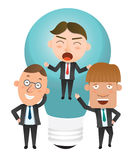 Business corporation idea concept flat character Stock Photos
