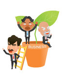 Business corporation success concept flat character.  Stock Image