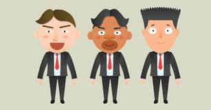 Business corporation teamwork concept flat character Stock Image
