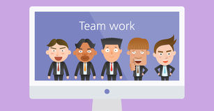 Business corporation teamwork concept flat character Stock Photography