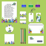 Business corporative set. Business set of many different elements vector illustration