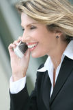 Business, Corproate Woman, on Cellphone Royalty Free Stock Photography