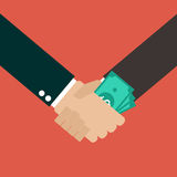 Business Corruption Handshake. Vector Illustration Stock Image