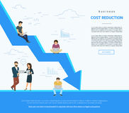 Business cost reduction concept illustration Royalty Free Stock Image
