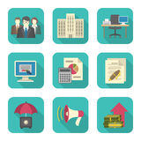 Business Costs Icons. Set of modern flat icons suitable for theme of business costs Stock Photo