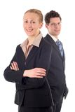 Business couple royalty free stock photography
