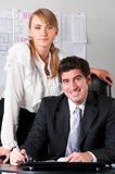 Business couple Stock Images