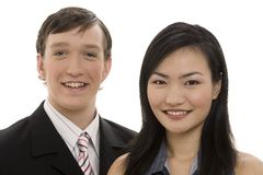 Business Couple 4. A smiling pair of business people Royalty Free Stock Photography
