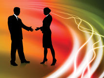 Business Couple on Abstract liquid Background Stock Image
