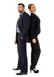 Business couple back to back Royalty Free Stock Photo
