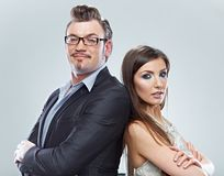 Business couple. . Royalty Free Stock Image