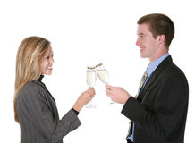 Business Couple Celebrating Stock Photo
