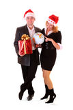 Business couple in christmas Royalty Free Stock Photo