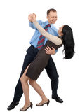 Business couple dancing Stock Photos