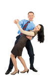 Business couple dancing Stock Images
