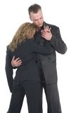 Business Couple Embracing royalty free stock photography