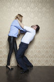 Business couple fights Stock Images
