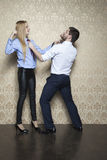 Business couple fights Royalty Free Stock Photo