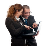 Business couple found what they were looking for Royalty Free Stock Images