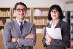 The business couple having discussion in the office Royalty Free Stock Image