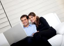 Business couple at home Royalty Free Stock Photos