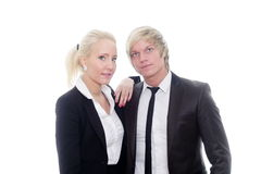 Business couple hugging Royalty Free Stock Photography