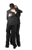 Business couple hugging Stock Images